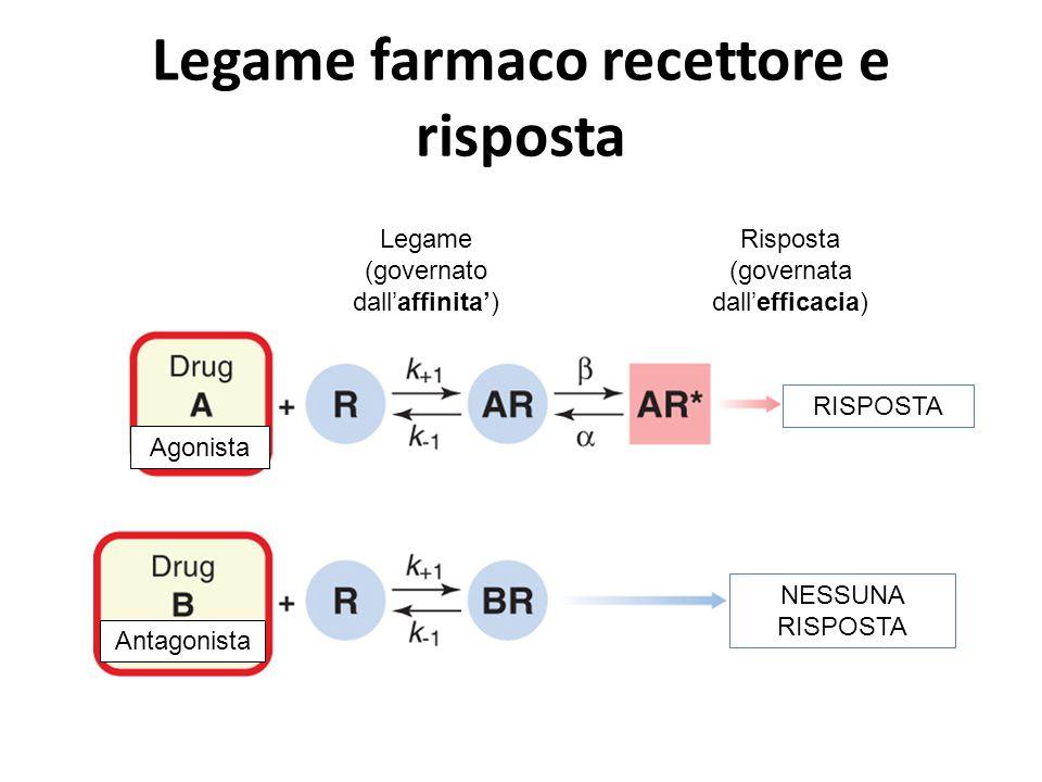 Legame farmaco recettore e risposta