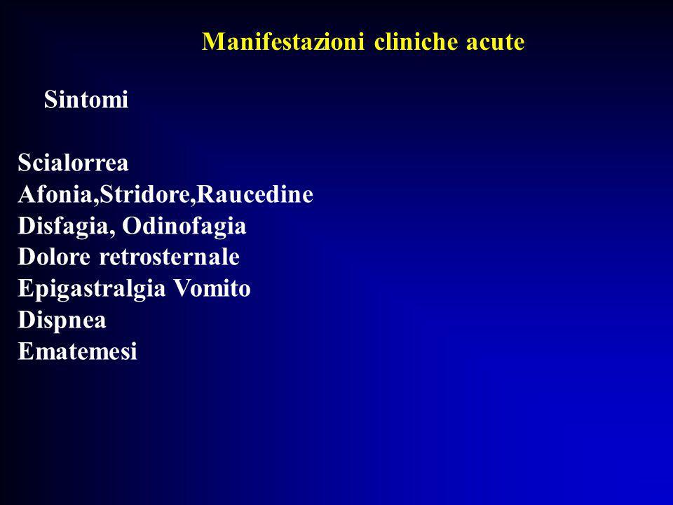Manifestazioni cliniche acute