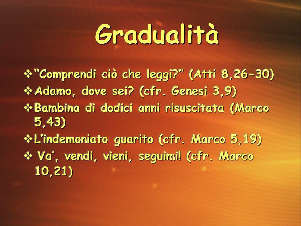 Gradualità Comprendi ciò che leggi (Atti 8,26-30)