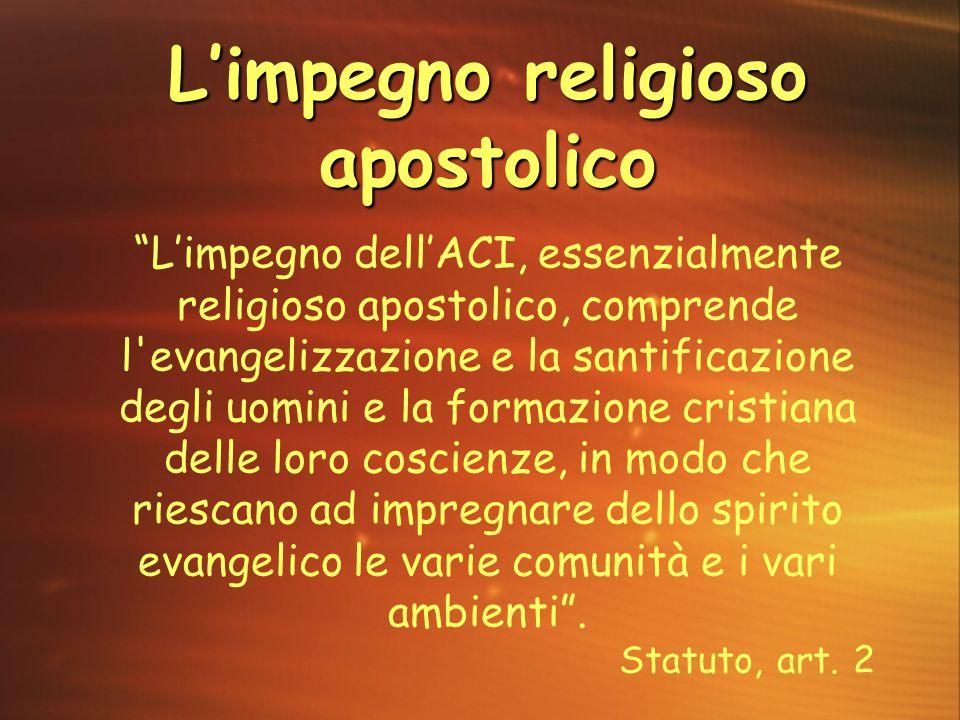 L'impegno religioso apostolico