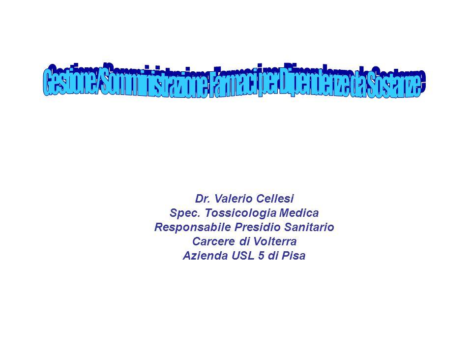 Spec. Tossicologia Medica Responsabile Presidio Sanitario