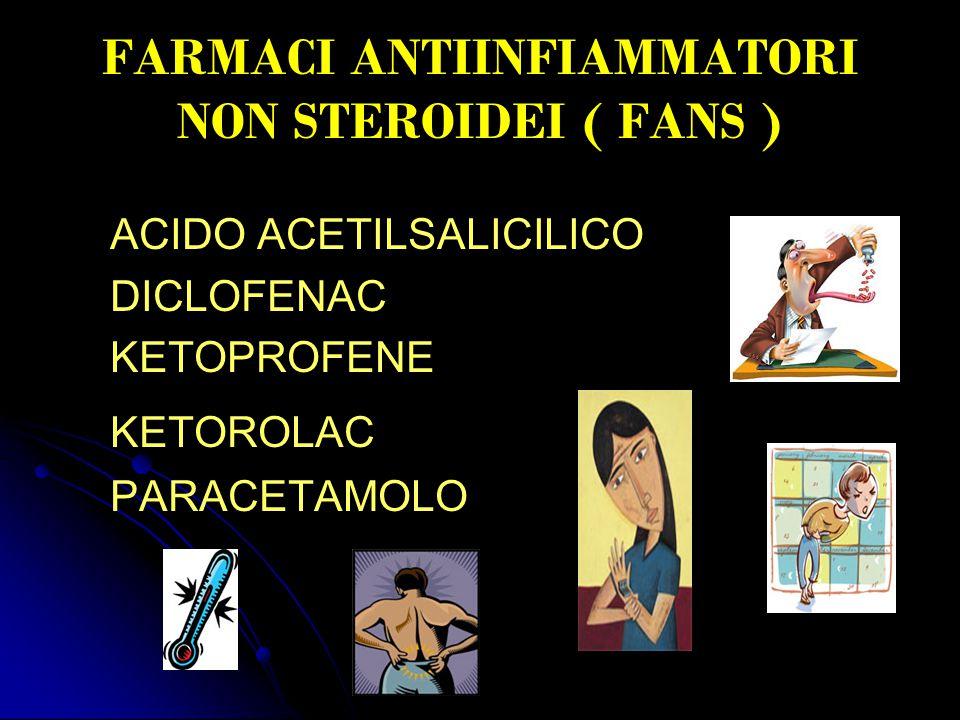 FARMACI ANTIINFIAMMATORI NON STEROIDEI ( FANS )