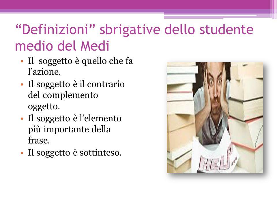 Definizioni sbrigative dello studente medio del Medi