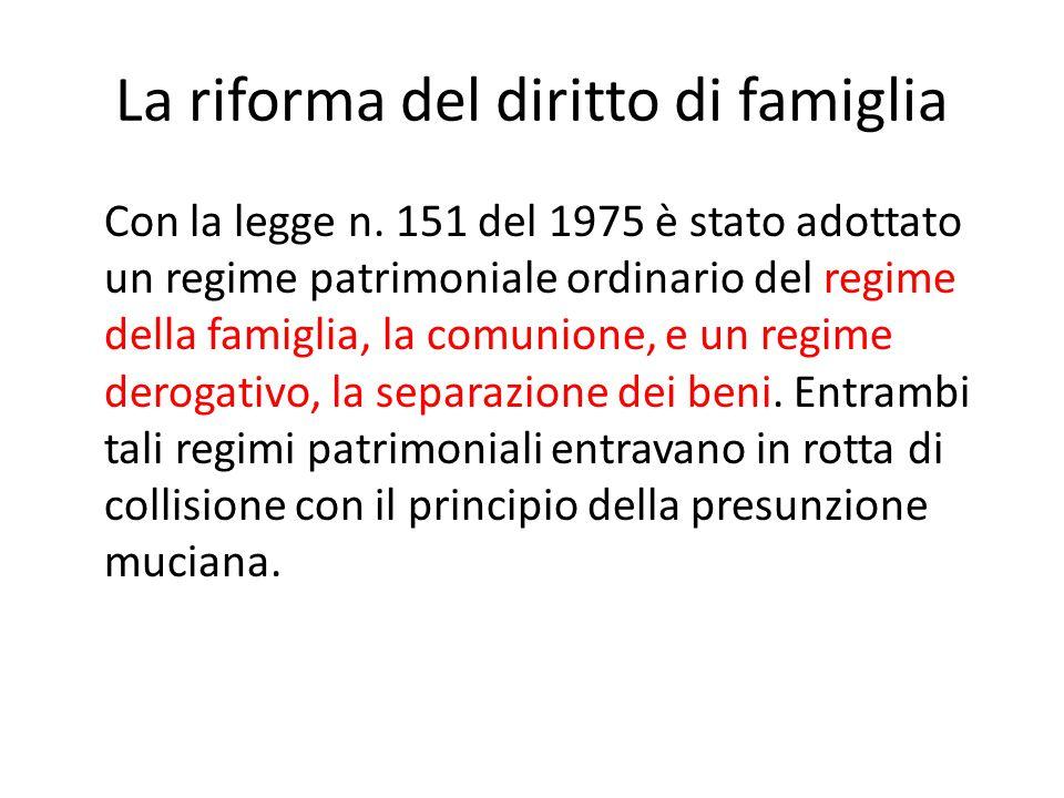 La riforma del diritto di famiglia