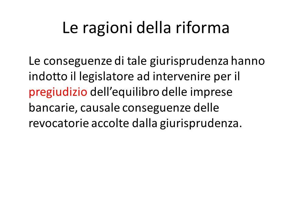 Le ragioni della riforma