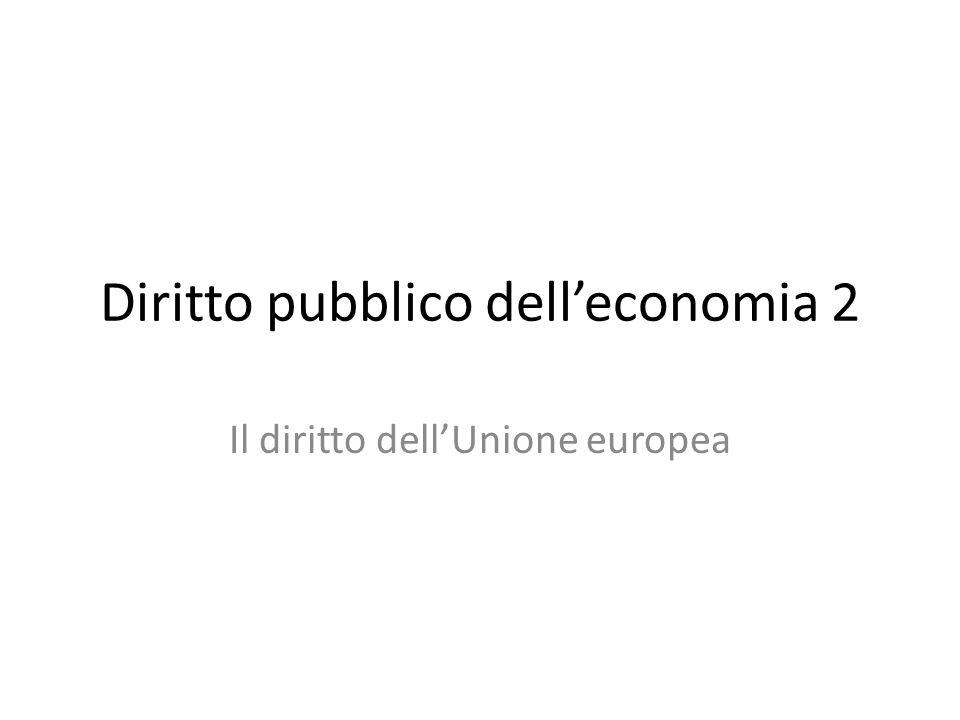 Diritto pubblico dell'economia 2