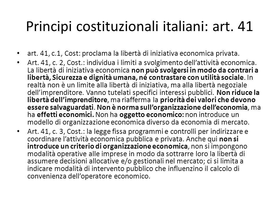 Principi costituzionali italiani: art. 41