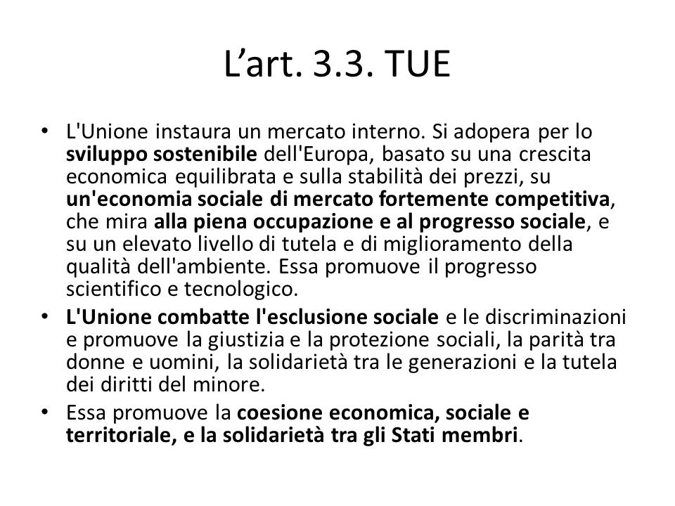 L'art. 3.3. TUE