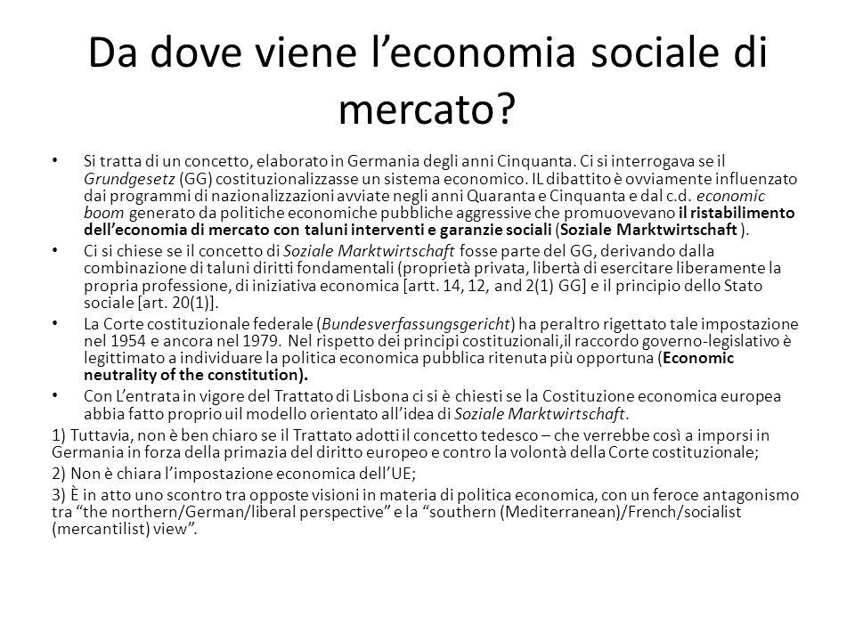 Da dove viene l'economia sociale di mercato