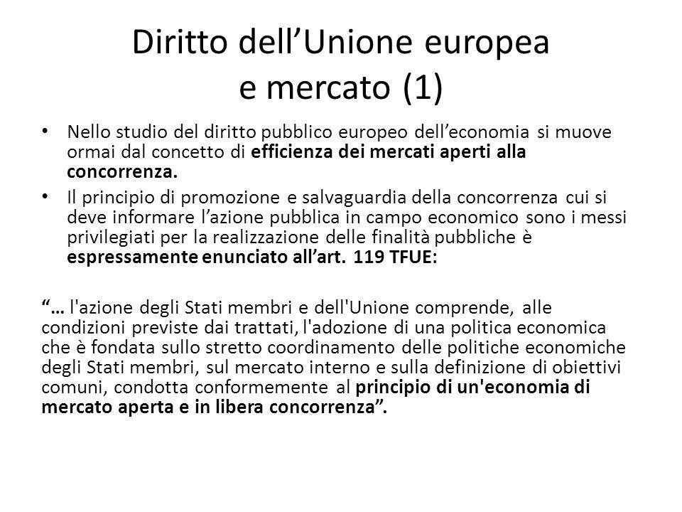 Diritto dell'Unione europea e mercato (1)