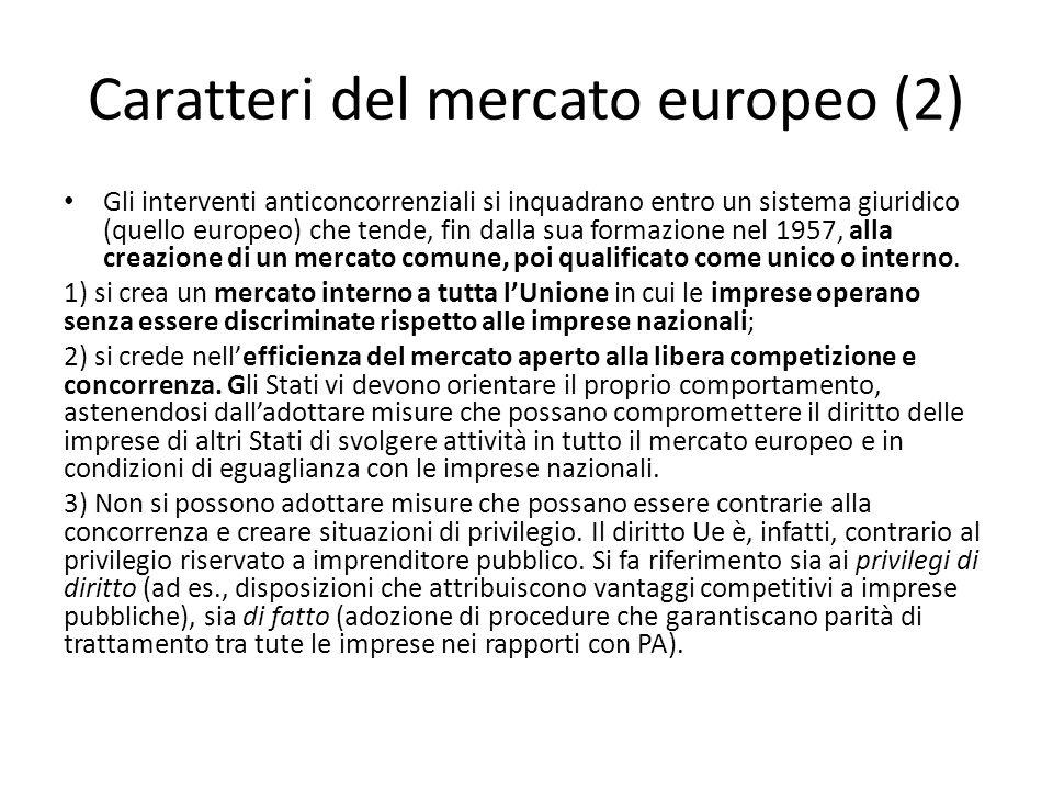 Caratteri del mercato europeo (2)