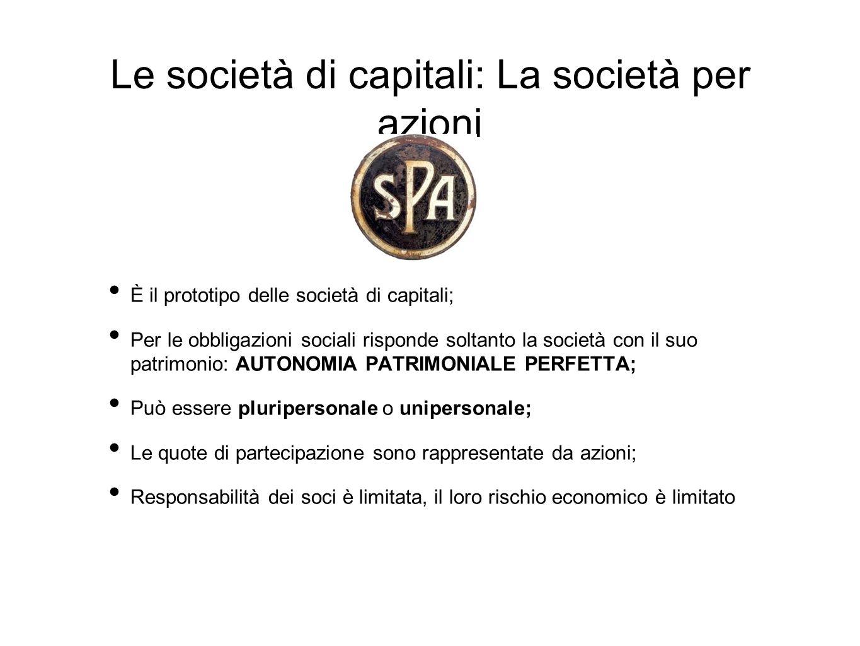 Le società di capitali: La società per azioni