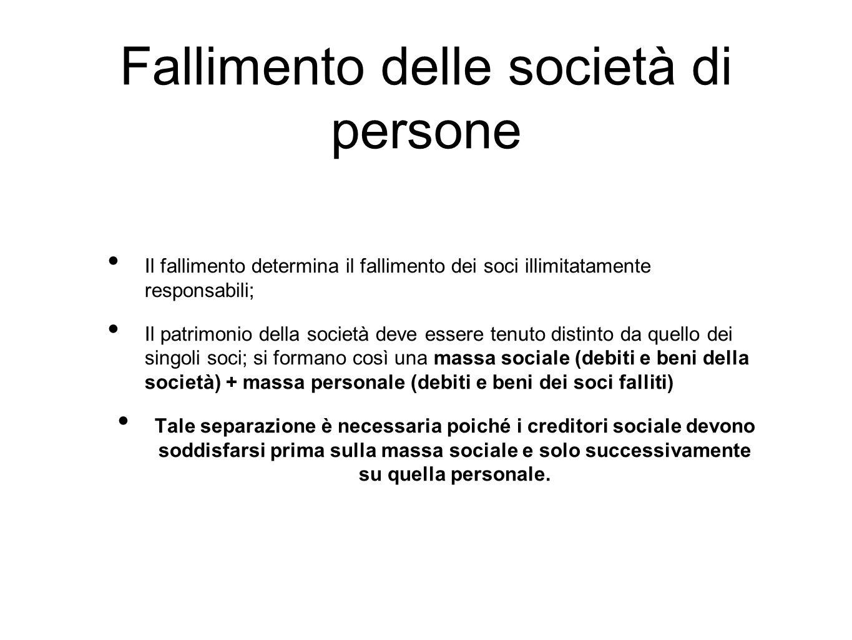 Fallimento delle società di persone