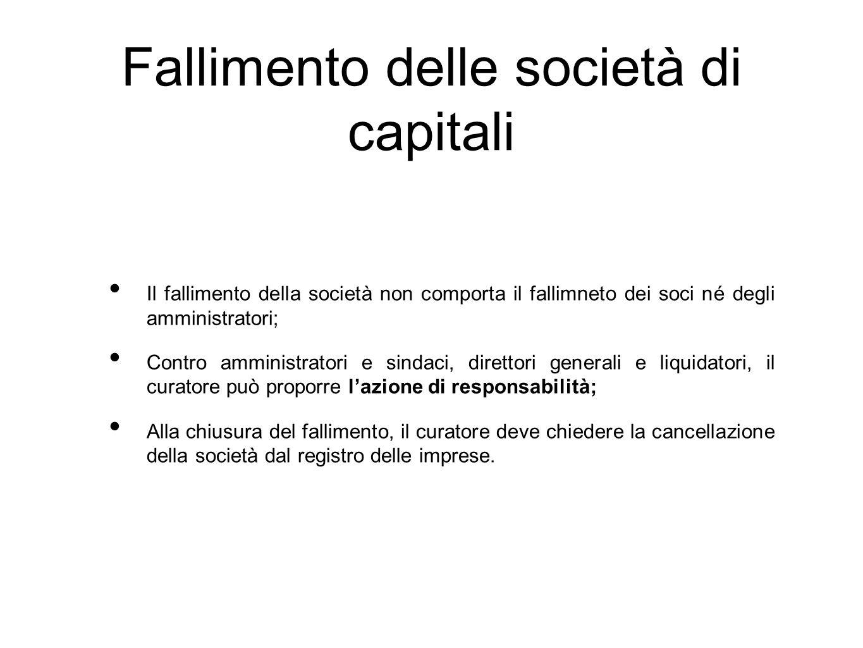 Fallimento delle società di capitali