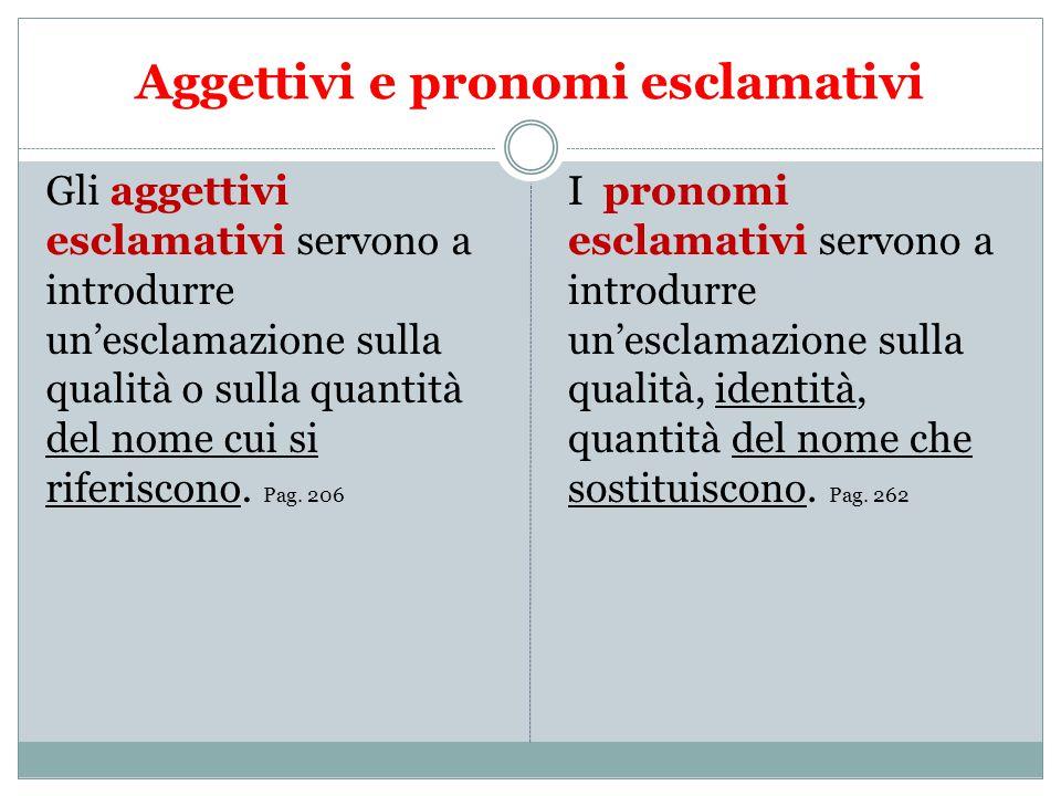 Aggettivi e pronomi esclamativi