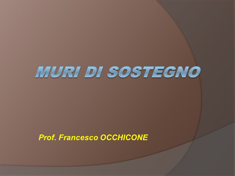 Prof. Francesco OCCHICONE