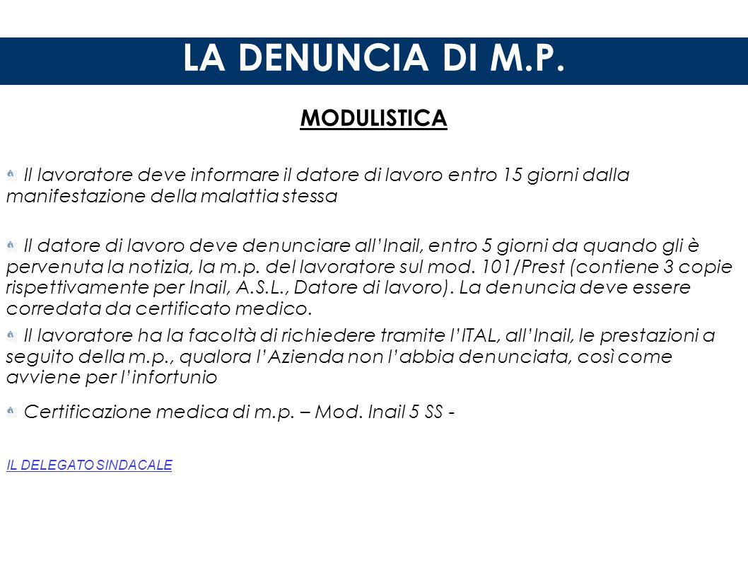 LA DENUNCIA DI M.P. MODULISTICA