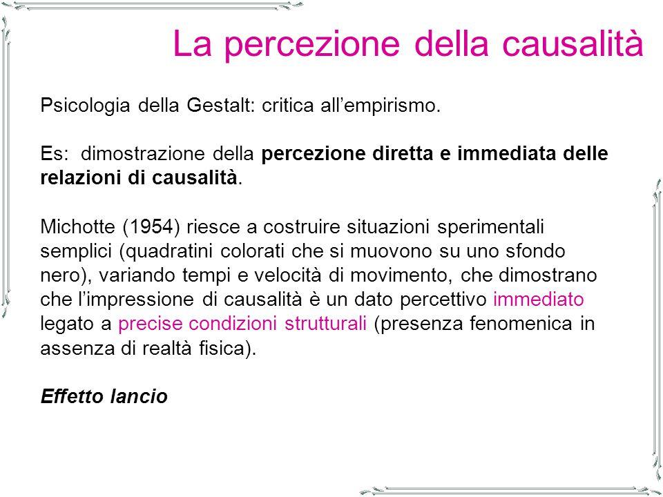 La percezione della causalità