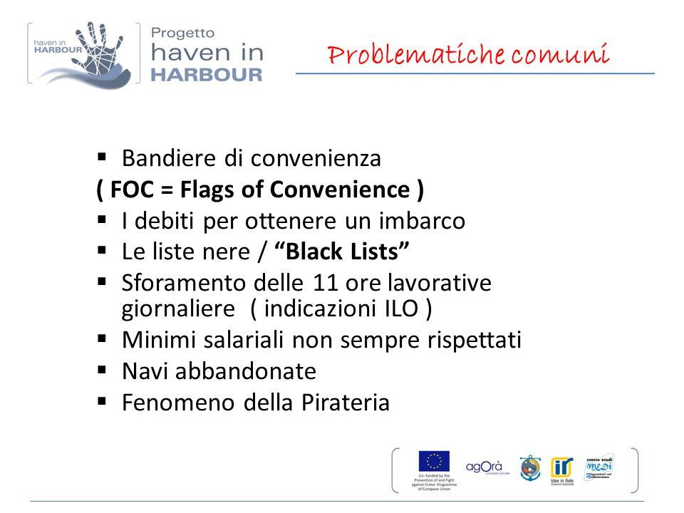 Problematiche comuni Bandiere di convenienza