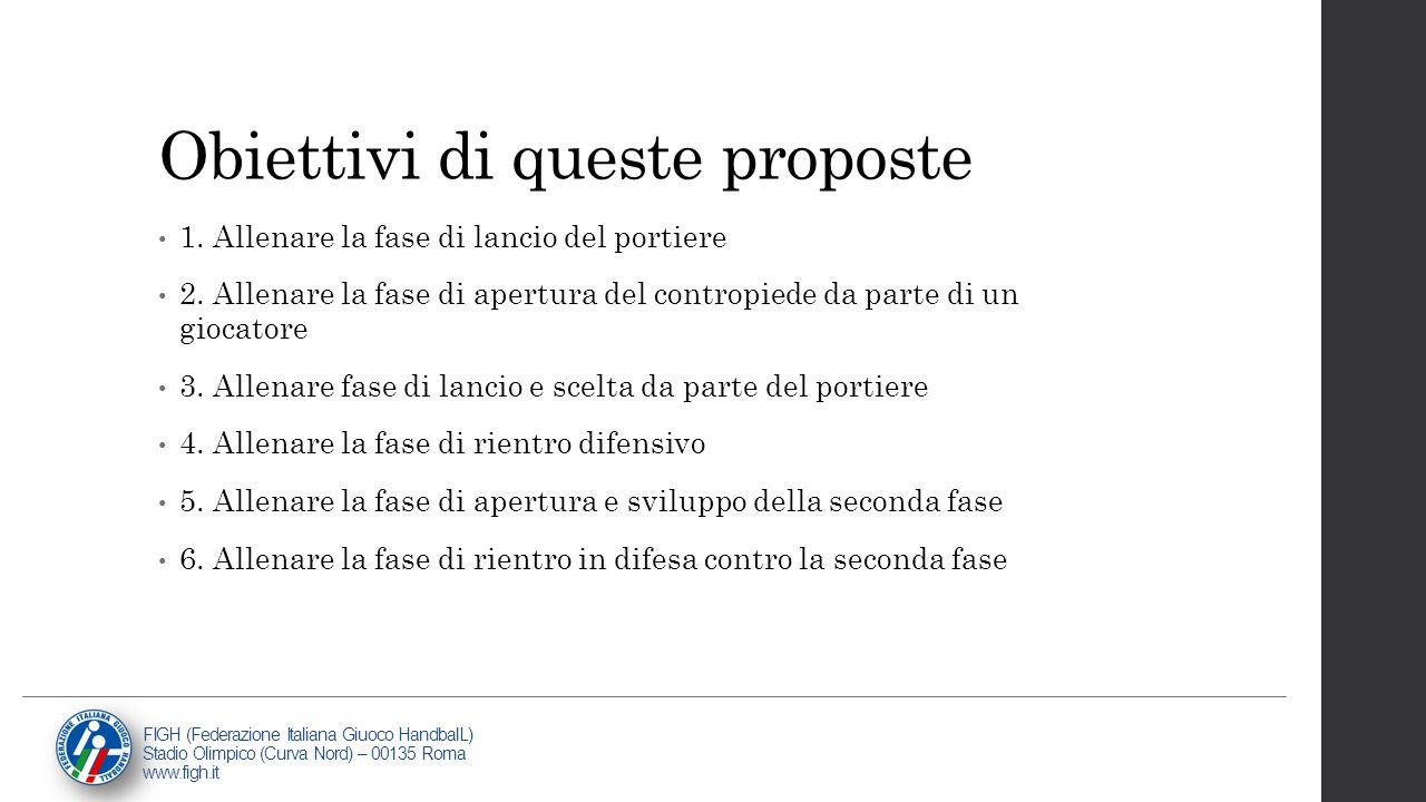 Obiettivi di queste proposte
