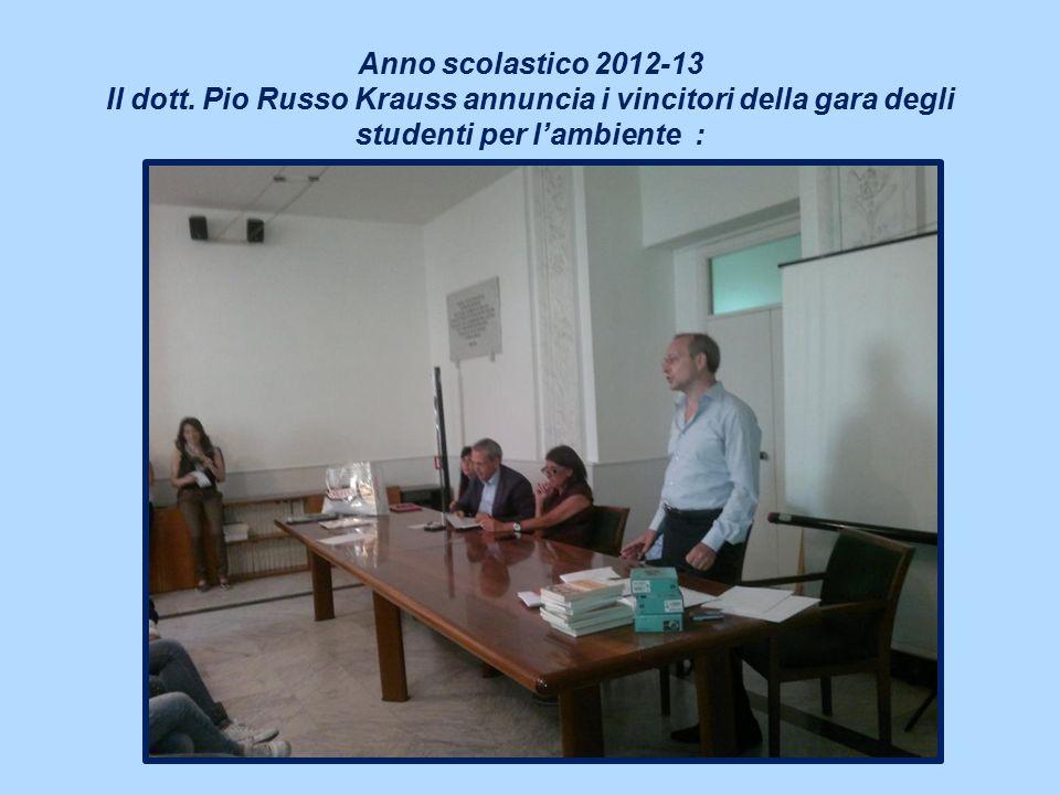 Anno scolastico 2012-13 Il dott