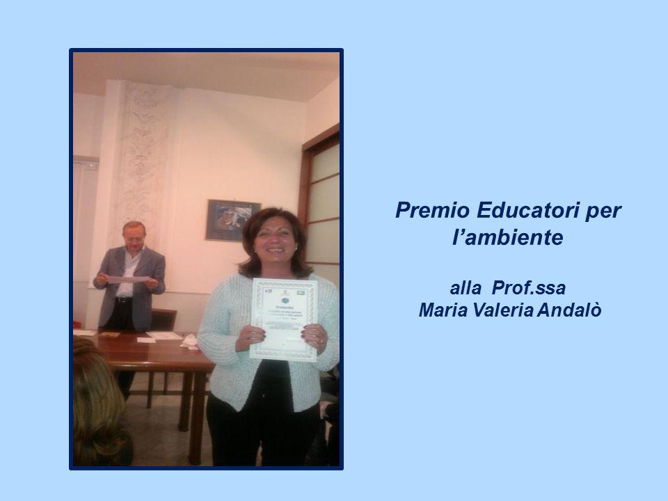 Premio Educatori per l'ambiente alla Prof.ssa Maria Valeria Andalò