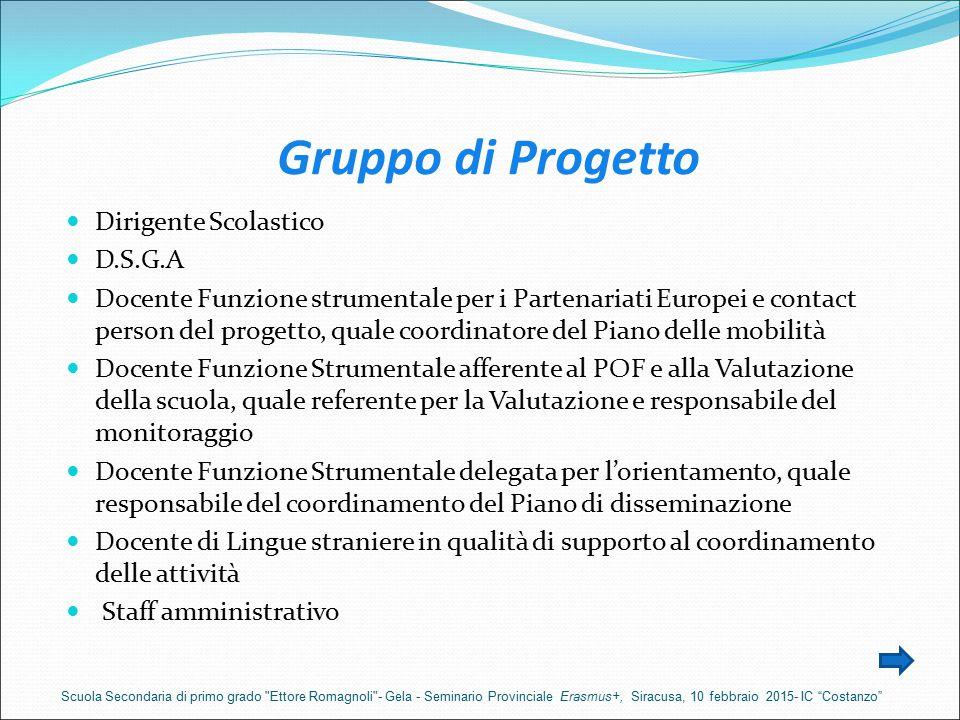 Gruppo di Progetto Dirigente Scolastico D.S.G.A