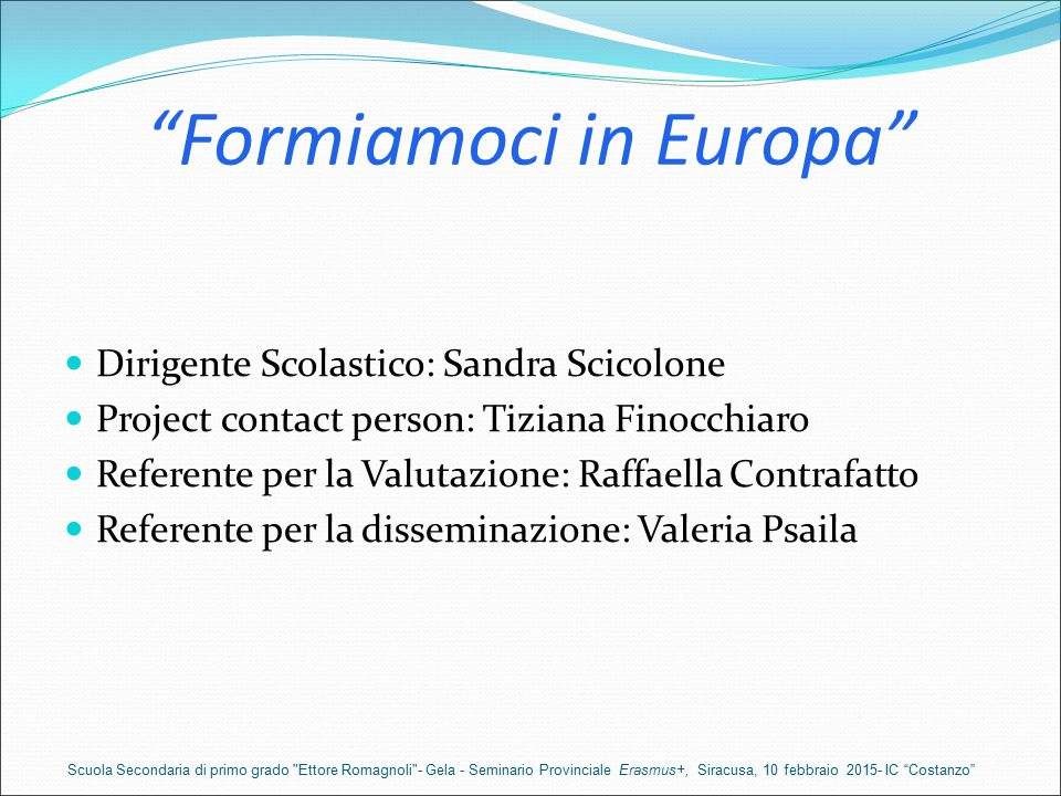 Formiamoci in Europa