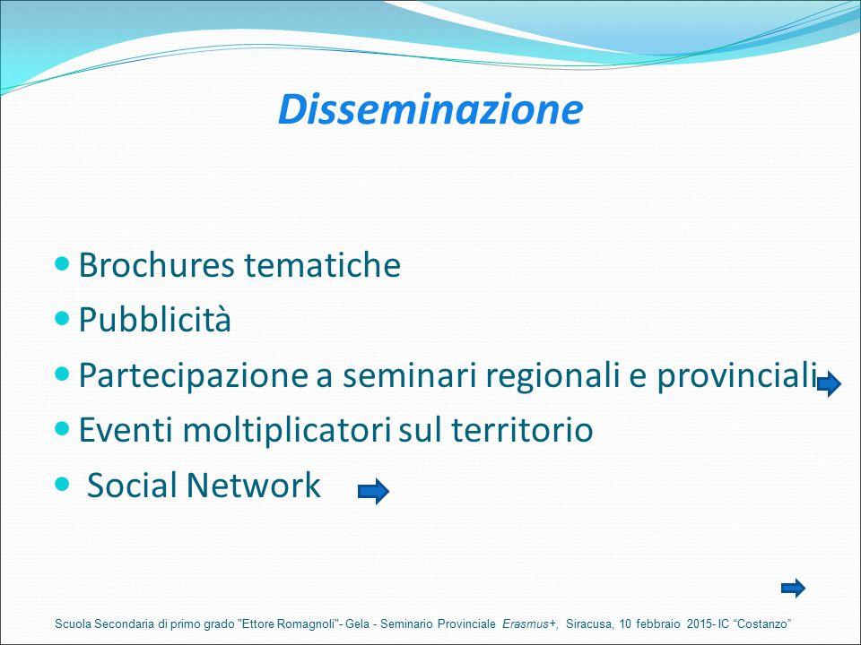 Disseminazione Brochures tematiche Pubblicità