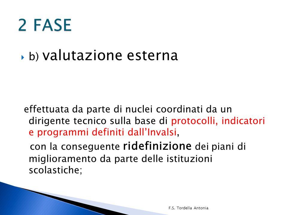 2 FASE b) valutazione esterna