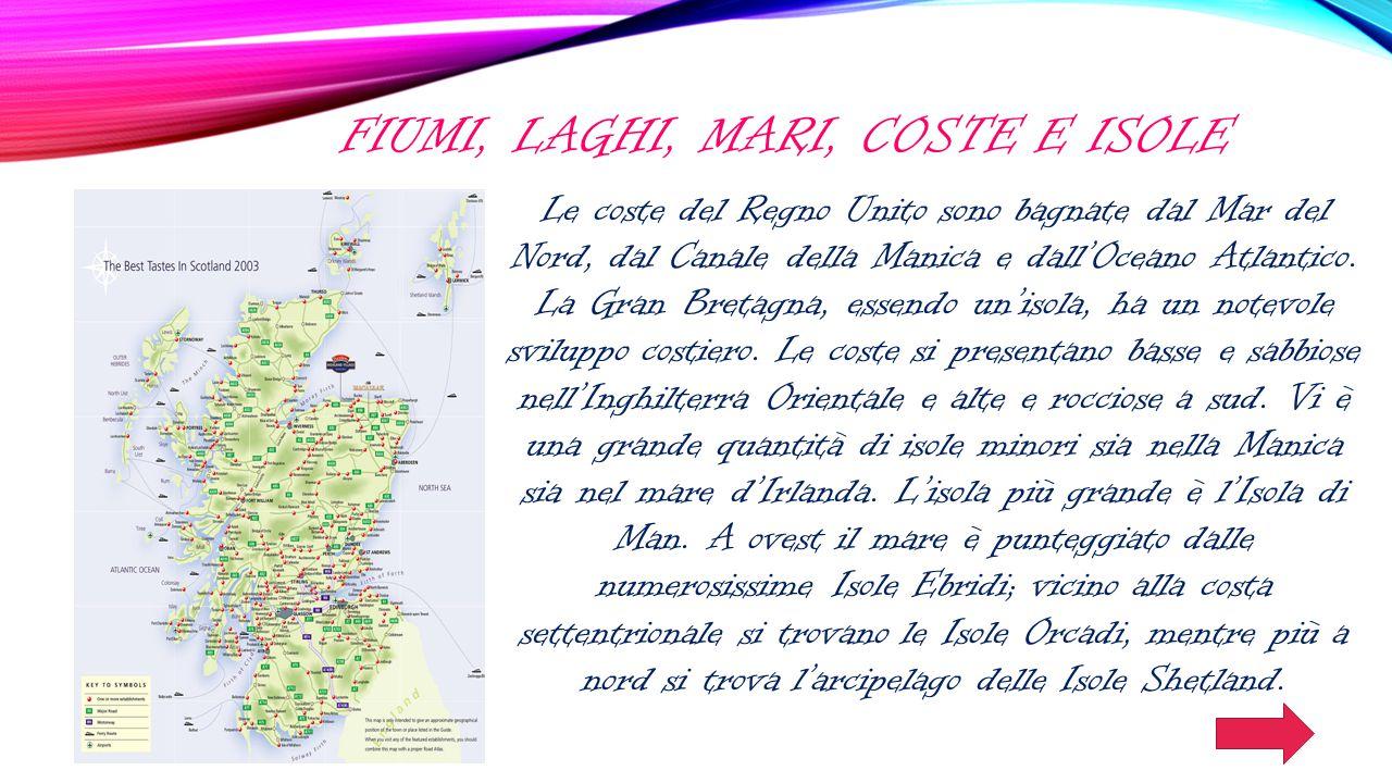 Fiumi, laghi, mari, coste e isole
