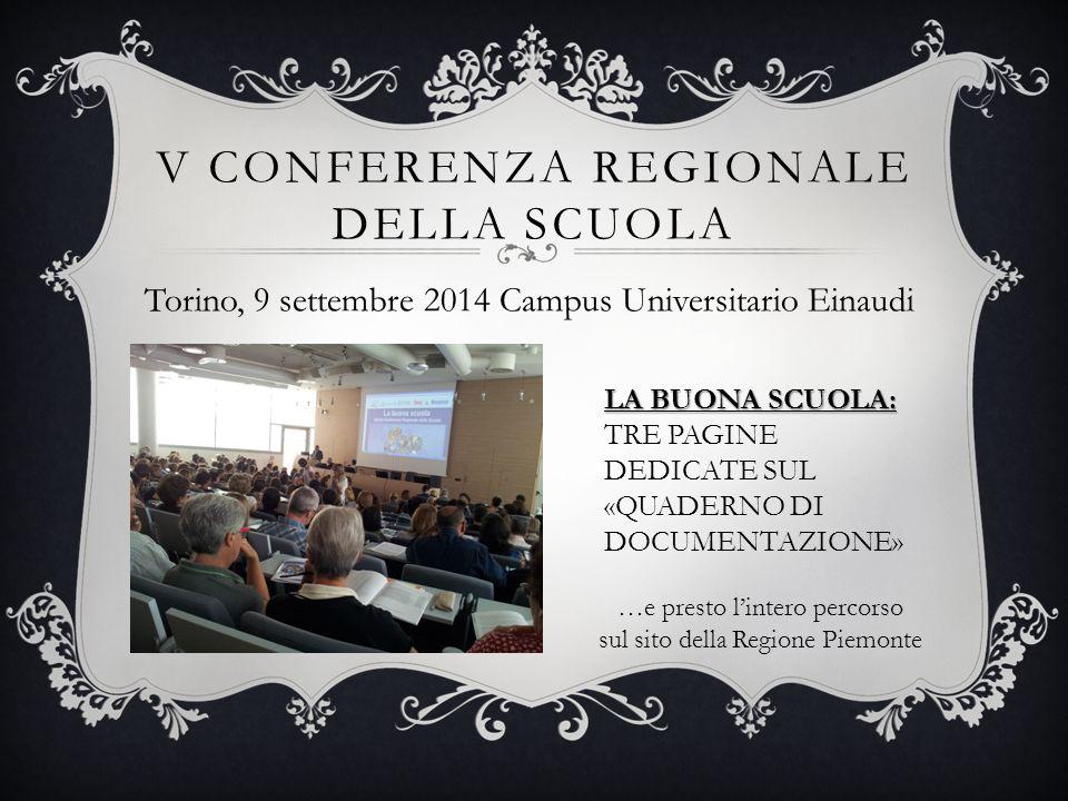 V conferenza Regionale della scuola