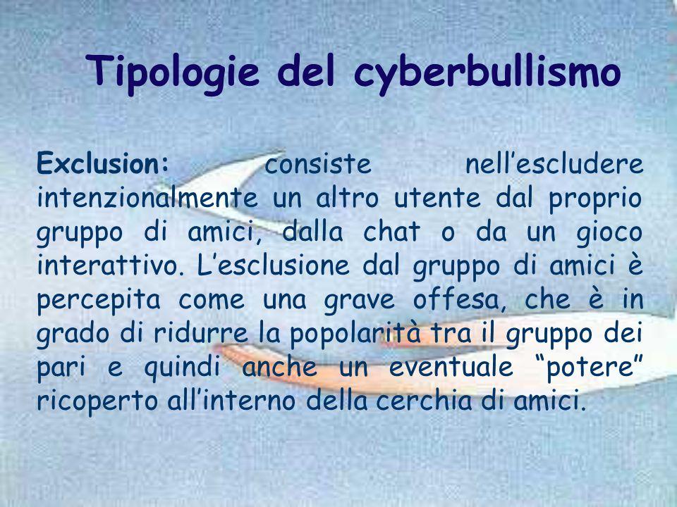 Tipologie del cyberbullismo