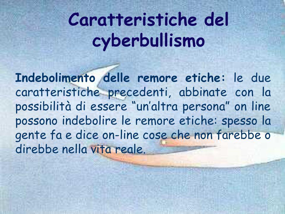 Caratteristiche del cyberbullismo