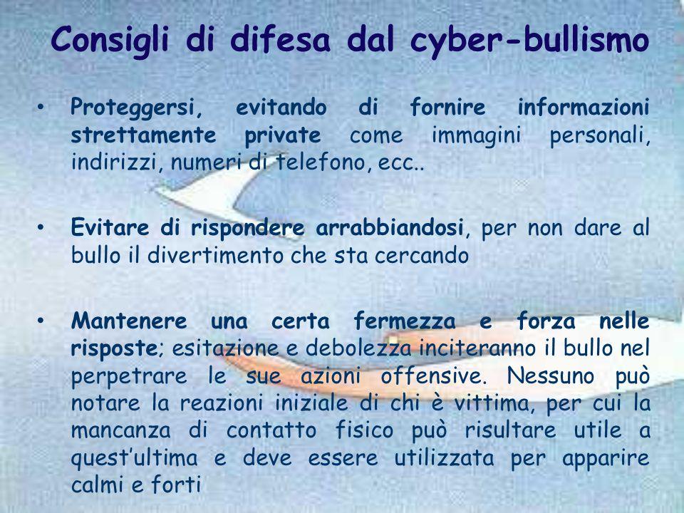 Consigli di difesa dal cyber-bullismo