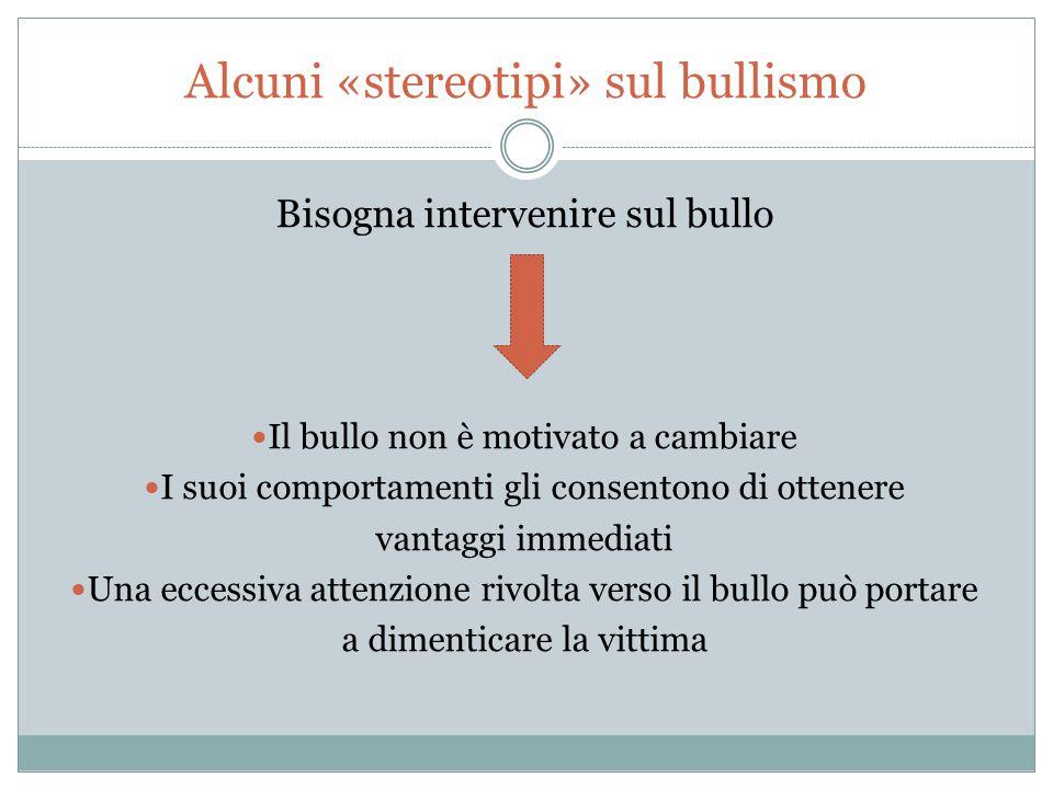Alcuni «stereotipi» sul bullismo