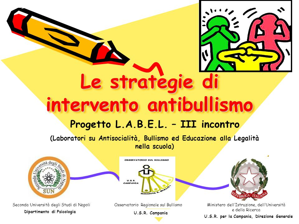 Le strategie di intervento antibullismo