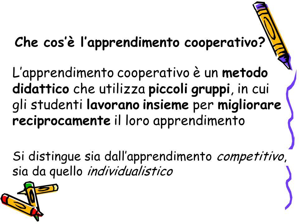 Che cos'è l'apprendimento cooperativo