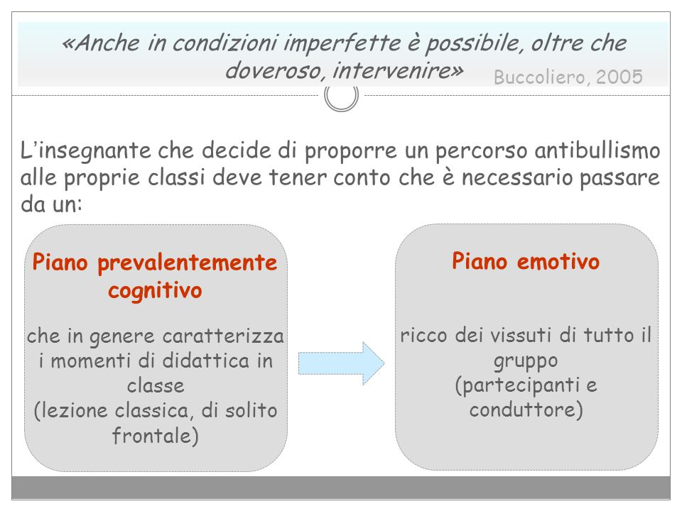 Piano prevalentemente cognitivo