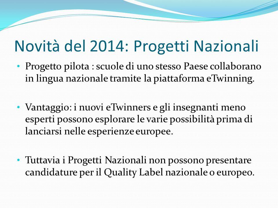 Novità del 2014: Progetti Nazionali