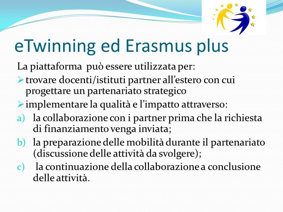 eTwinning ed Erasmus plus