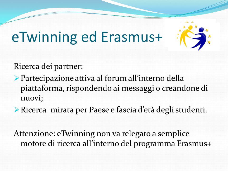 eTwinning ed Erasmus+ Ricerca dei partner:
