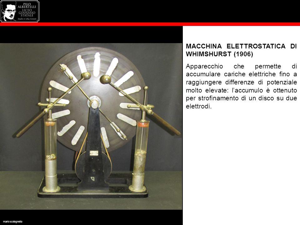 MACCHINA ELETTROSTATICA DI WHIMSHURST (1906)