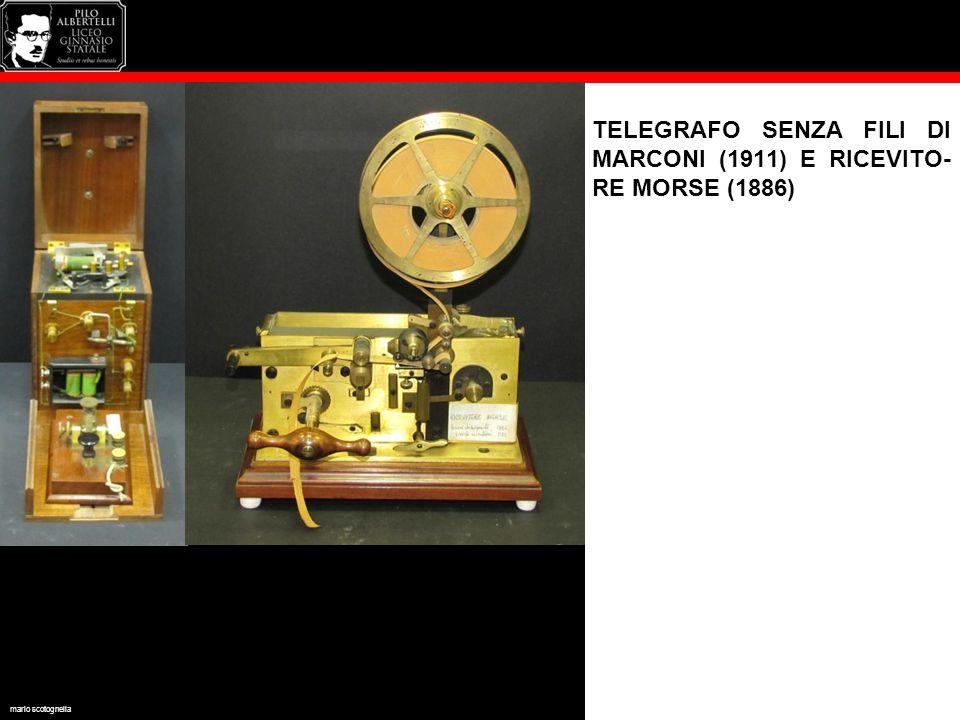 TELEGRAFO SENZA FILI DI MARCONI (1911) E RICEVITO-RE MORSE (1886)
