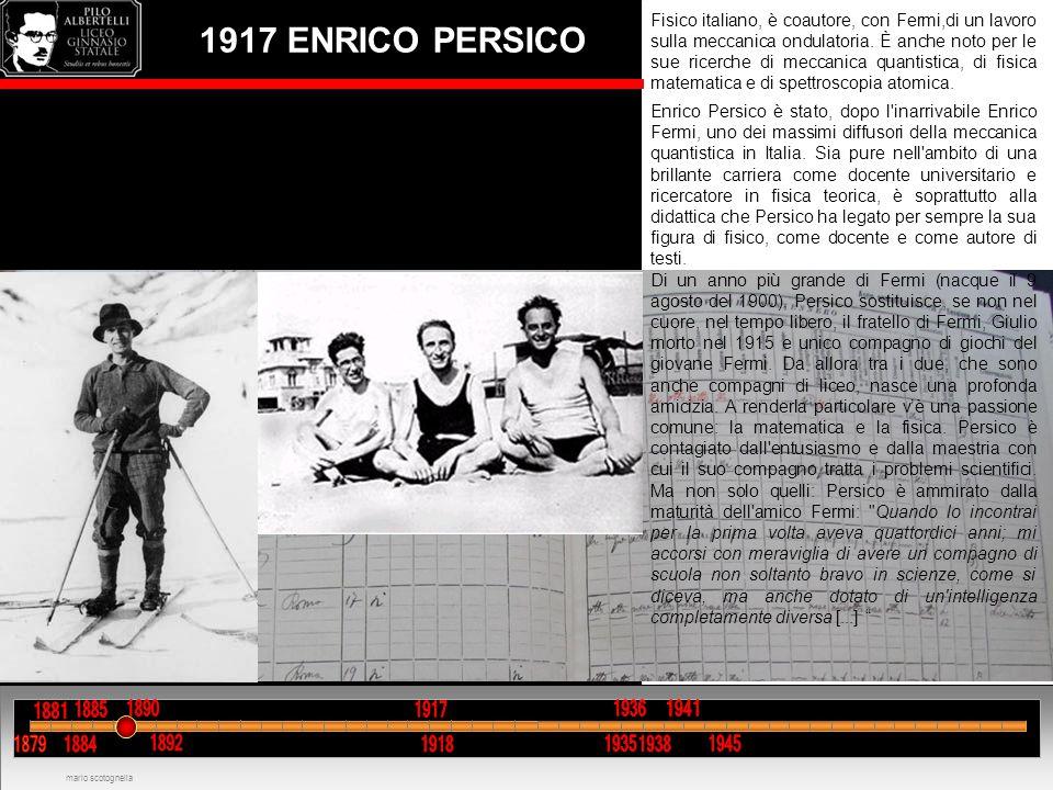Fisico italiano, è coautore, con Fermi,di un lavoro sulla meccanica ondulatoria. È anche noto per le sue ricerche di meccanica quantistica, di fisica matematica e di spettroscopia atomica.