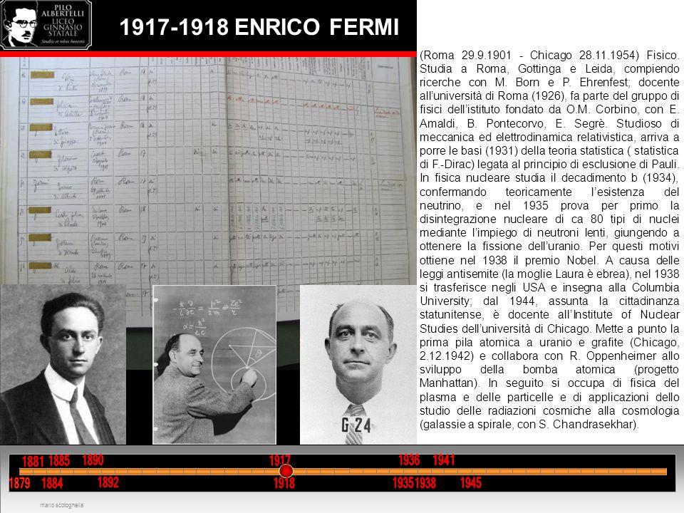 1917-1918 ENRICO FERMI