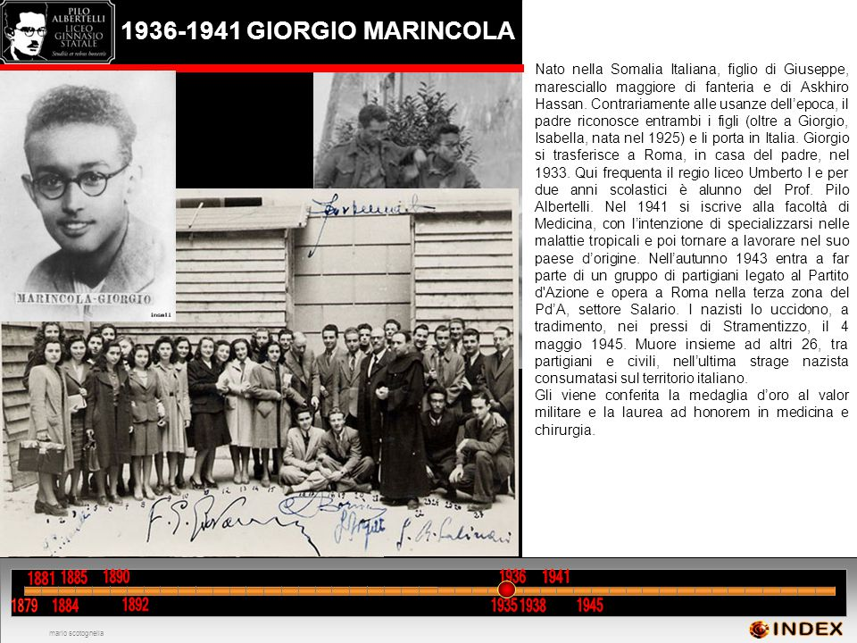 1936-1941 GIORGIO MARINCOLA INDEX