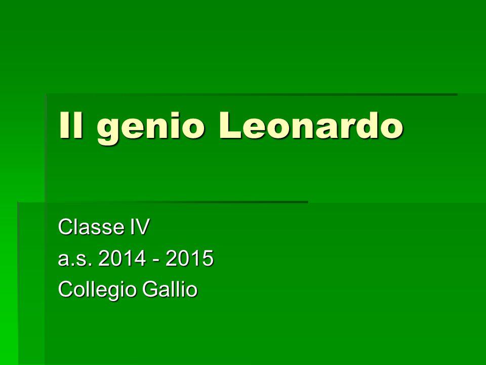 Classe IV a.s. 2014 - 2015 Collegio Gallio