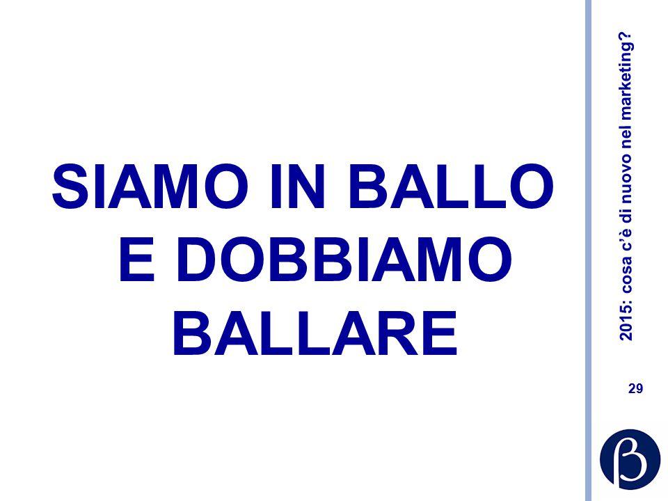 SIAMO IN BALLO E DOBBIAMO BALLARE