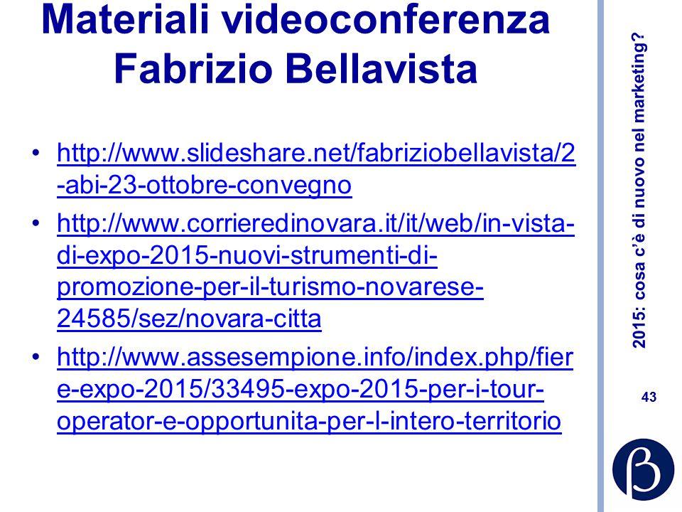 Materiali videoconferenza Fabrizio Bellavista